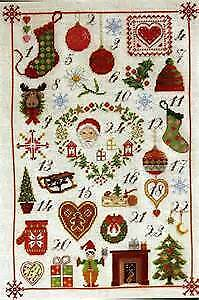 DMC- Vintage  X-kit Christmas Patterns Advent Calender BK785 NIP