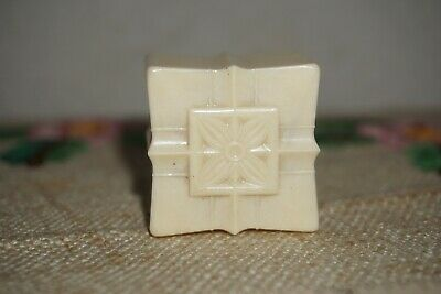 Vintage Celluloid / BAKELITE RING BOX Ivory USA by AJB  Antique  ART DECO MCM