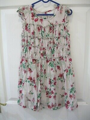 Next Size 6 Years Pink Floral Dress Red Cream Summer Beach Girls Kids