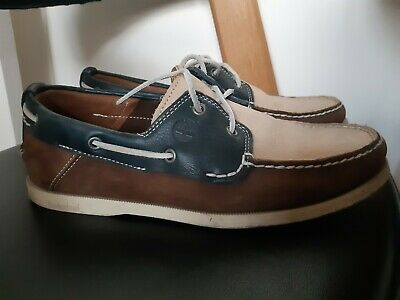 Mens Timberland deck boat shoes / size UK 9 US 9.5 / Suede / Excellent condition