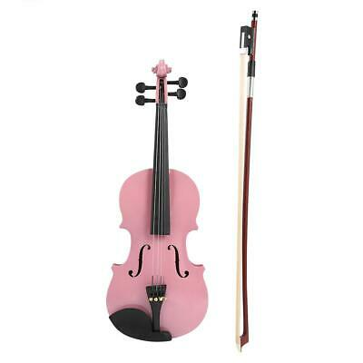 1/8Size Gloss Acoustic Violin Fiddle with Case Bow Rosin Musical Instrument WT7n