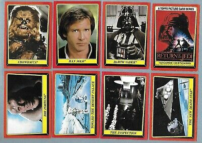 1980 Empire Strikes Back 1983 Return of the Jedi 265 Cards 13 Stickers Star Wars