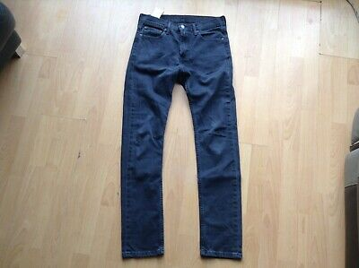 LEVI STRAUSS SKINNY LEVIS 510 Slim JEANS Black Denim Straight W 30 l 32