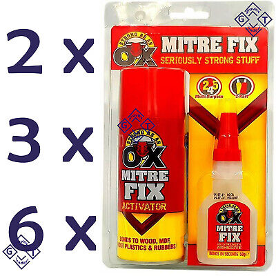 Strong Mitre Fix with Activator Fast Bond Adhesive Cyanoacrylate Multipurpose