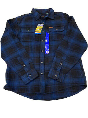 ORVIS Big Bear Flannel Blue Plaid Check NEW with tags  Mens Shirt  LARGE L