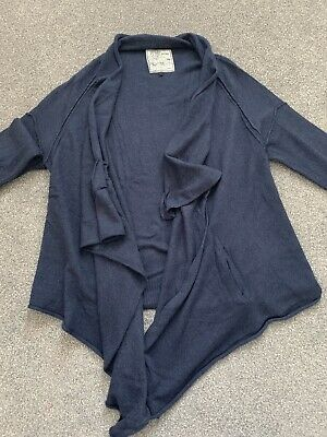 Ladies Navy Fat Face Waterfall Cardigan, Size 14