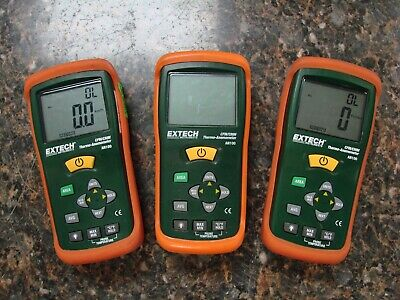 Lot of (3) Extech AN100 CFM/CMM Mini Thermo-Anemometers