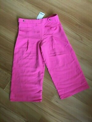 girls next pink summer crop trousers age 10 nwt
