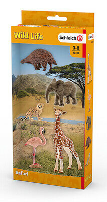 Schleich 42388 Assorted Wild Life Animals 5 Figurines includes Plastic Figures