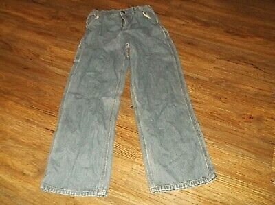Boy's Youth's CARHARTT Blue Denim Carpenter Style Jeans Sz 14 100% Cotton