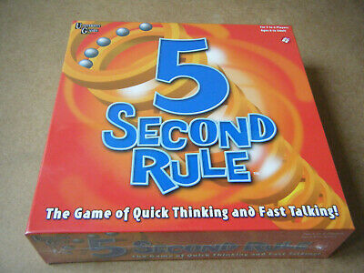 """5 SECOND RULE"" Fast paced family fun game. University games 2016. New & Sealed."