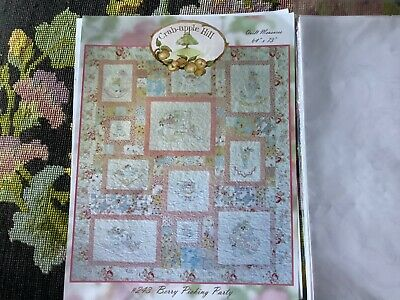 crab-Apple Hill Berry Picking Party/ Set Of Hand Embroidery Pattern for quilt