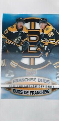 2019-20 Tim Hortons Hockey Card Franchise Duos D-15 Marchand / Pastrnak