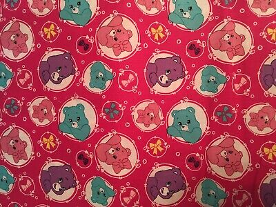 Care Bears baby toddler sheets set bright pink