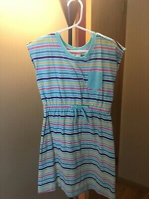 NWOT Hanna Andersson Multicolor striped cap sleeve dress size 120