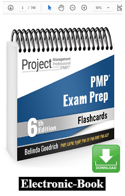 PMP Exam Prep Flash Card (PMBOK Guide 6th) electronicsbook