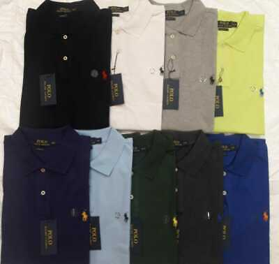 RALPH LAUREN Cotton Polo Men's T-Shirts With Small Pony Logo