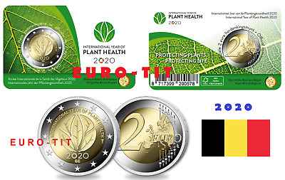 2020  Belgique  Annee Internationale  Des Plantes Commemorative  De  2 Euro 2020