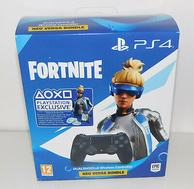 Sony PlayStation 4 DualShock Controller schwarz Fortnite Neo Versa Bundle Neu