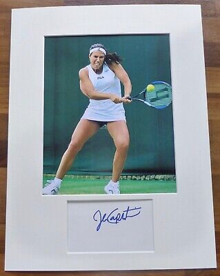 JENNIFER CAPRIATI-A Hand Signed Card,Presented With A Photo-Mounted & Matted,COA