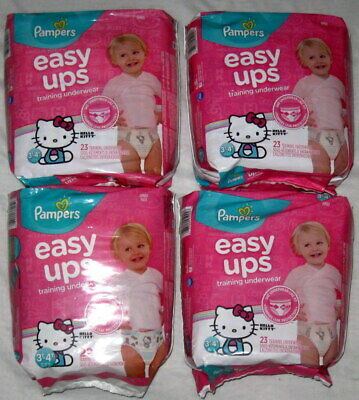 Girls Pampers Easy Ups Pull On Disposable Potty Training Underwear 3T-4T 91 Ct