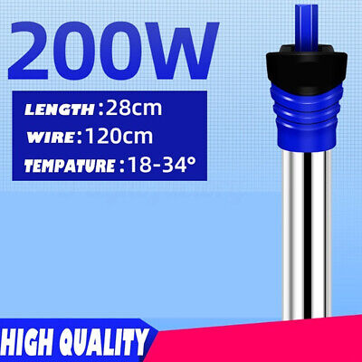 50/100/200/300W Aquarium Water Heater Submersible Adjusted Fish Tank Thermostat