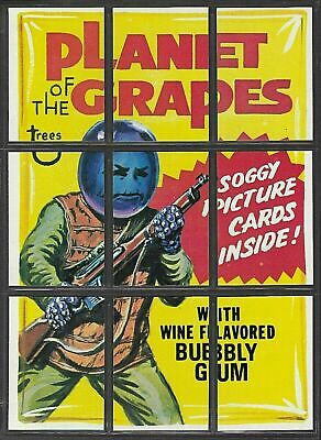 1974 Topps Wacky Packages 11th Series Planet Grapes Checklist Puzzle 9 Card Set