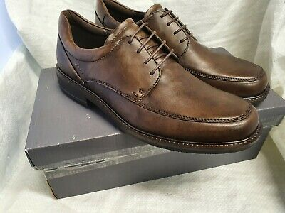ECCO Holton Leather Smart Shoes-Brown Size UK8