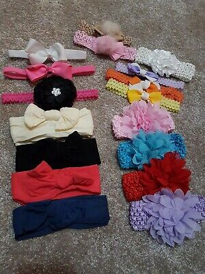 Bundle Of Baby Girls Headbands 0-6 Month's