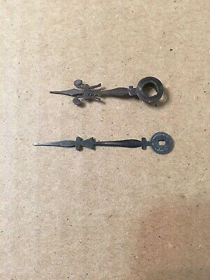 Pair Of Ansonia Mantle Clock Hands From Round Plate Open Escapement Movement