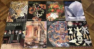"""""""ANTIQUES The Magazine"""" LOT of 15 Magazine Back Issues-2000-2002"""