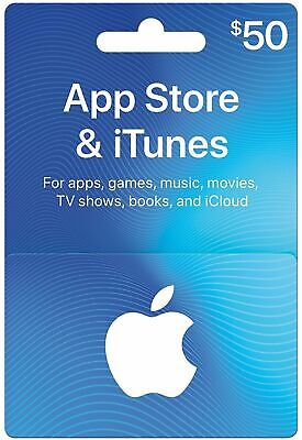 Apple App Store & iTunes $50 Physical or Electronic Gift Card