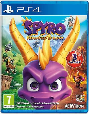 Spyro Reignited Trilogy Sony PS4 Pro Enhanced Activision Action Adventure Game