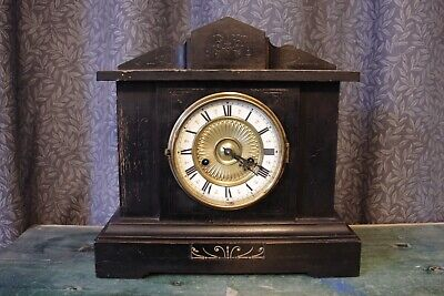 Edwardian/1911 mantelpiece clock, Not working, for repair, parts or display