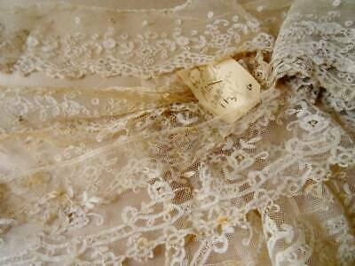 A Huge Collection Of Antique Brussel Applique On Tulle C.1870