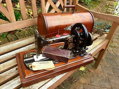 1883 Singer 12k fiddlebase hand crank sewing machine, full working order