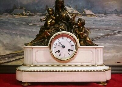 Japy Freres Antique French  Bronze Holy Family Clock 1825c MEDAILLE D`OR