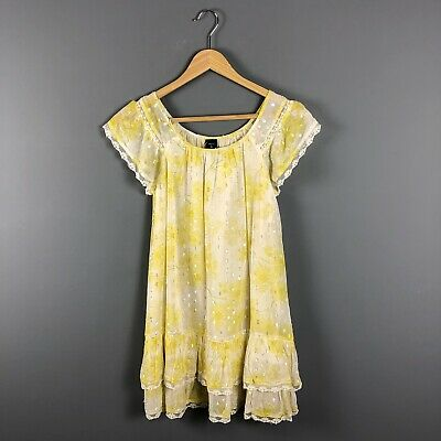NWT Gap Kids Girls Size 8/M Yellow Daisy Floral Lurex Spring Easter Dress NEW