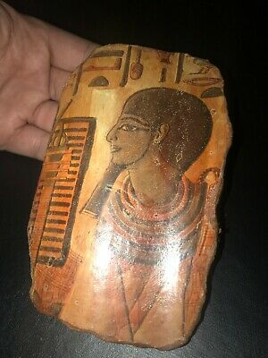 Rare ancient egyptian antique stone stela plaque Akhenaten 1350-1069 bc