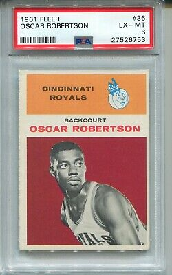 1961 Fleer Basketball #36 Oscar Robertson Rookie Card RC PSA 6