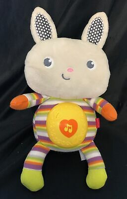 """Fisher Price SWEET SOUNDS BUNNY Musical Light-Up Soother 11"""" Plush Lullaby"""