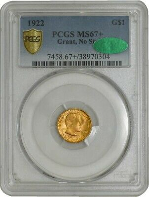 1922 $ Gold Grant, No Star Dollar MS67+ Secure Plus PCGS ~ CAC 942251-3