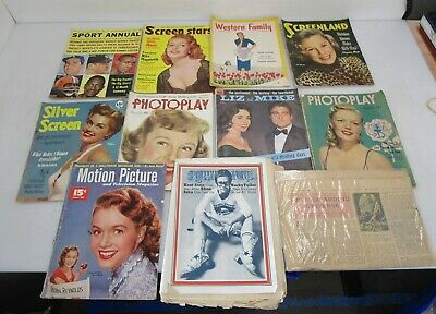 Lot of Vintage Magazine Back Issues: Photoplay, Sort Annual, Silver Screen++