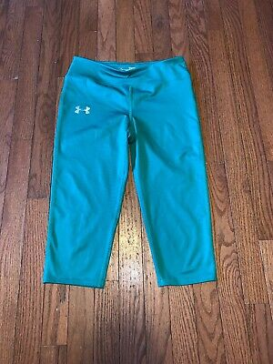 Girls Under Armour Youth Large Fitted All Season Gear Capri Leggings