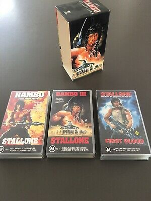 The Rambo Collection Box Set VHS Trilogy Videos X 3