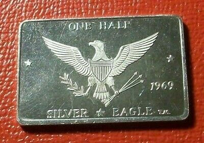 1969 1/2 Silver Eagle  1/2 troy oz.999 Fine Silver by Foster Mint   Rare