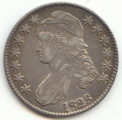 1828 Capped Bust Half Dollar, XF, Small 8's, Large Letters