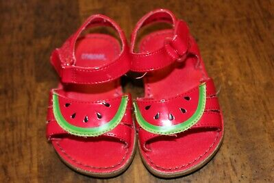 Gymboree Watermelon Sandals Size 3 baby girl toddler