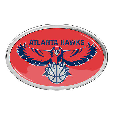Atlanta Hawks Full-Color Aluminum Auto Car Emblem
