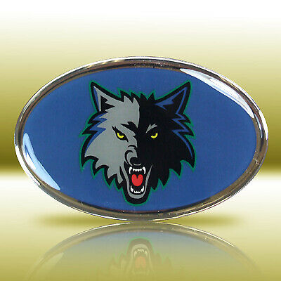 Minnesota Timber-wolves Full-Color Aluminum Car Emblem